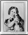 Victorian girl and her dog