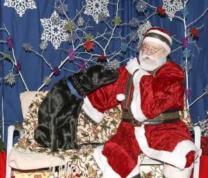 Santa, I want this . . . and . . . (Photo Credit of Service Dog with Santa by: Craig Weakly)