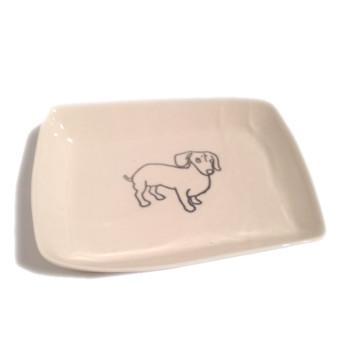 porcelain dog dish